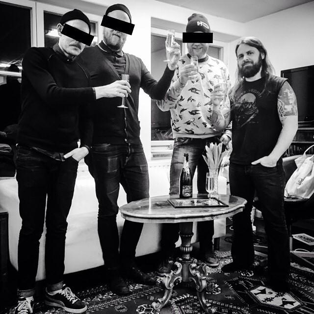 Ögonlapparna hänger i studion med producenten Fred Estby (ex-Dismember, Necronaut, The Dagger)