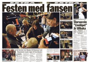 Nöjesbladets uppslag från den 1 juli 2011.