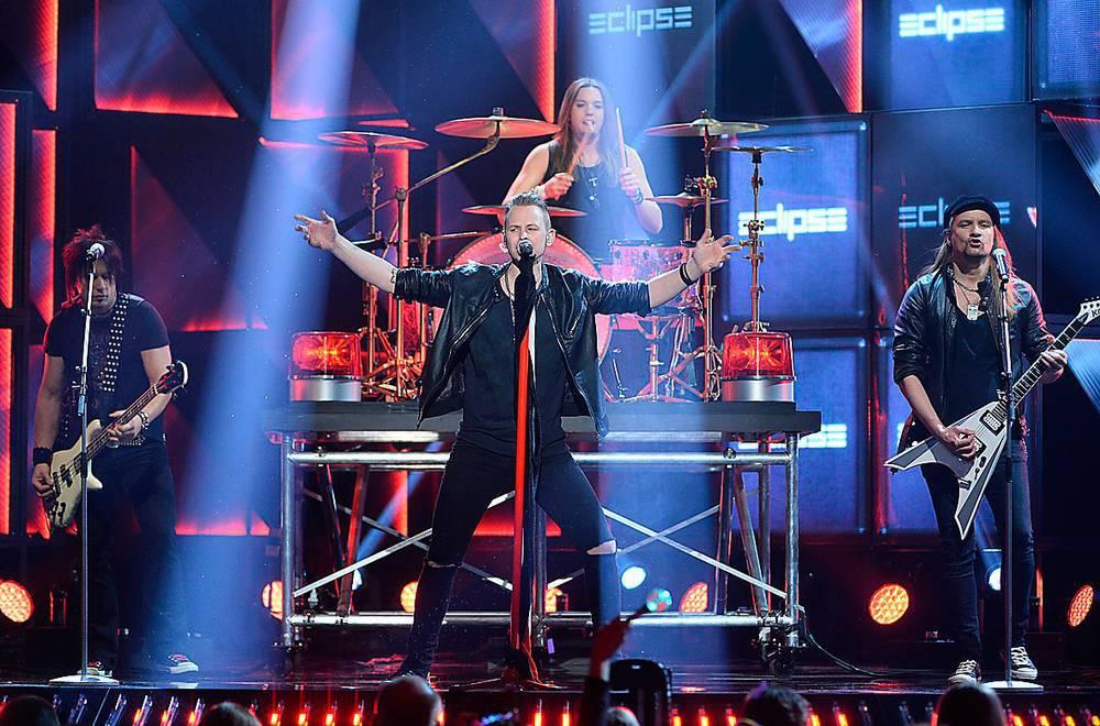 """Huruvida Eclipse ser tillbaka på Melodifestivaläventyret förra året med fasa får vara osagt. Klart är dock att gruppens nya singel heter """"Never look back"""". Foto: Robin Lorentz-Allard"""