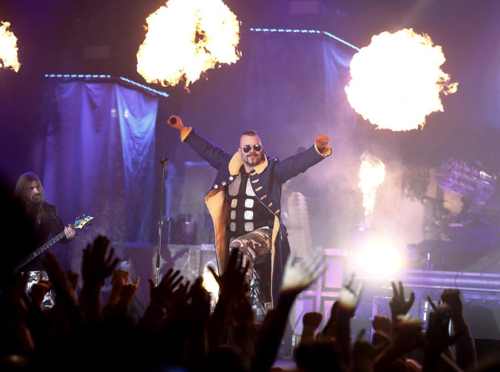 2017-03-17 NORRKÖPING Sabaton, turnepremiär i Himmelstalundshallen i Norrköping Foto: Stefan Jerrevång / 2800